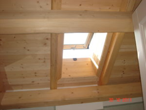 rivestimento in legno per lucernario