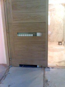 copritermo in legno su rivestimento