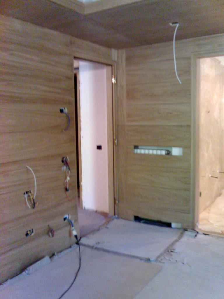 rivestimento in legno per ingresso