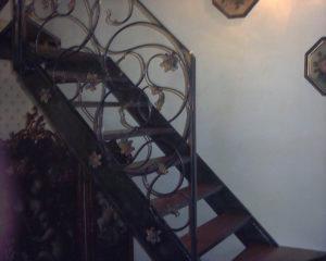 gradini scala in noce nazionale massello