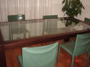 tavolo su misura in legno wengé